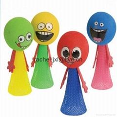 彩色彈性編織網管 彈跳精靈網管 儿童玩具網