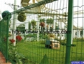 Best price galvanized pvc coated garden fence panels 1