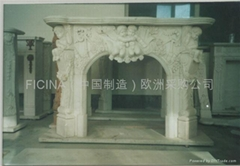 FIREPLACE MARBLE WHITE