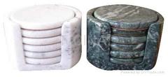 piattini marmo sottobicchieri, Untersetzer aus Marmor, coaster set
