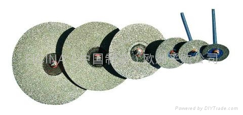 Electro-plated diamond discs with protected -segments 5
