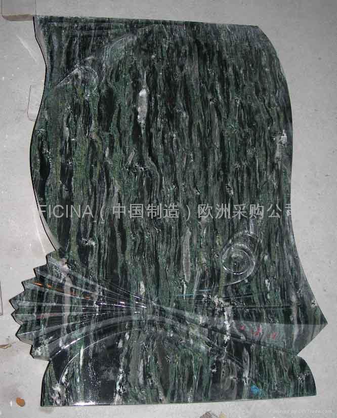headstone in China green lapidi in cina verde 1