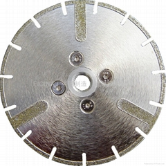 Electric-placed saw blades  to  cut marbles