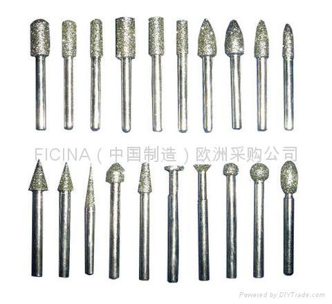 Diamond grinding pins, fresete  1