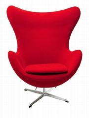 玻璃钢鸡蛋椅 客厅休闲家具 旋转椅 皮沙发