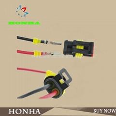 2 p汽車連接器防水汽車電線連接器2孔插頭汽車摩托車接線設備
