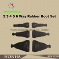 5 pin waterproof connector rubber cover