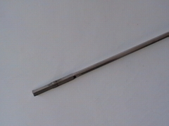 The strong magnet searches iron bar