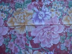 被壳布料花形