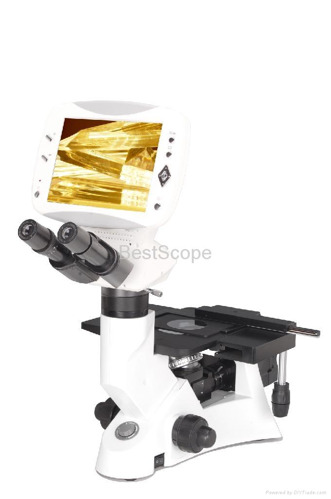 BestScope BLM-600B Digital LCD Inverted Metallurgical Microscope 1