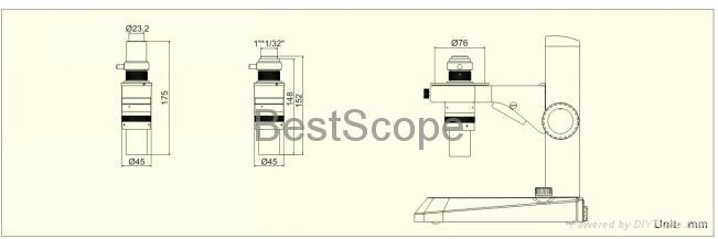 BestScope BS-1010 Monocular Zoom Microscope 6