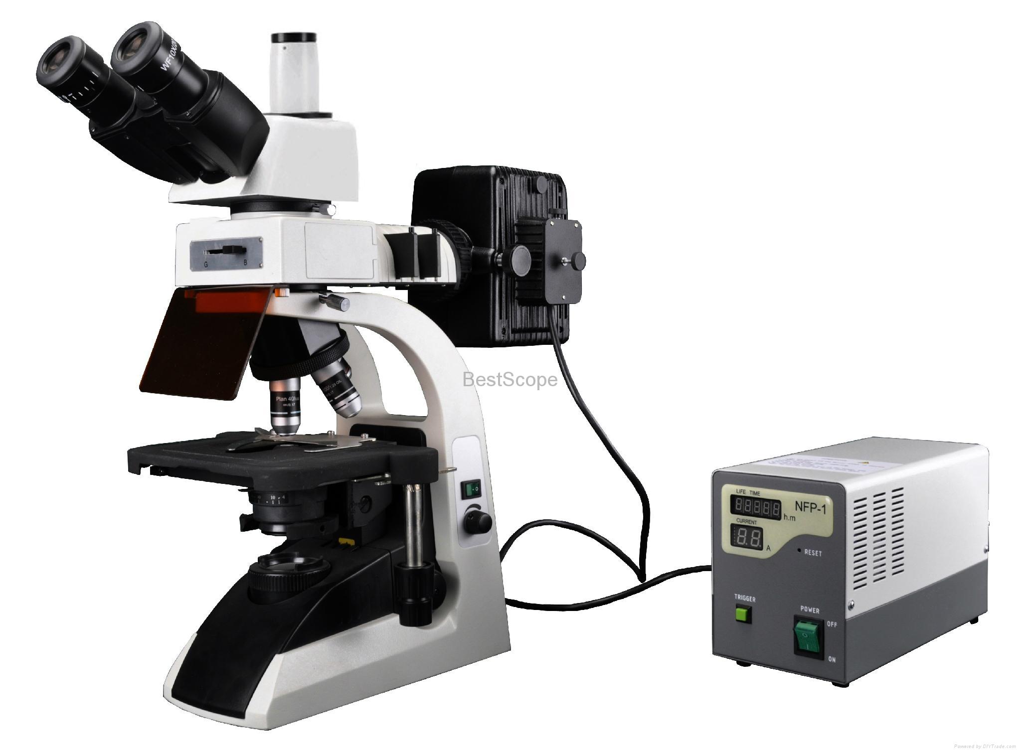 BestScope BS-2072F Fluorescence Biological Microscope 1