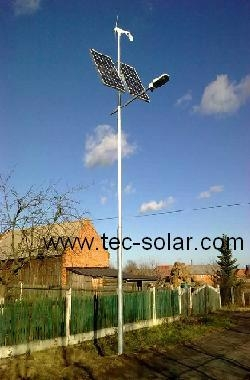 Wind-solar hybrid LED street light 1