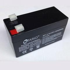 12V1.3AH accumulator 12v Lead-acid battery