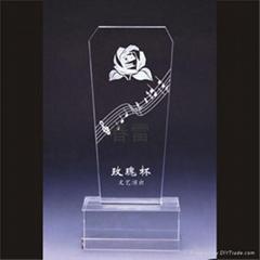 香港水晶獎牌