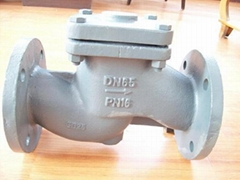 (DIN) Check Valve Lift Type flanged ends