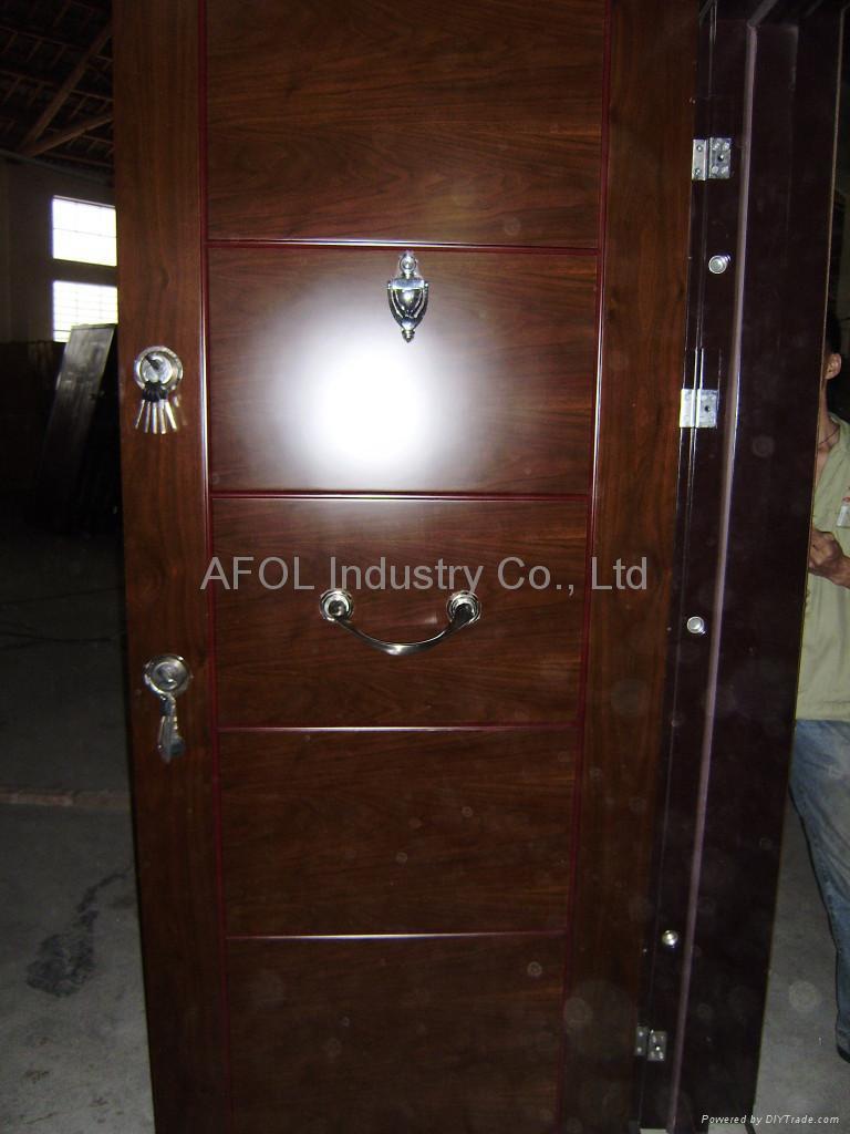 Steel Wooden Door : Steel wooden armoured door afol swe china