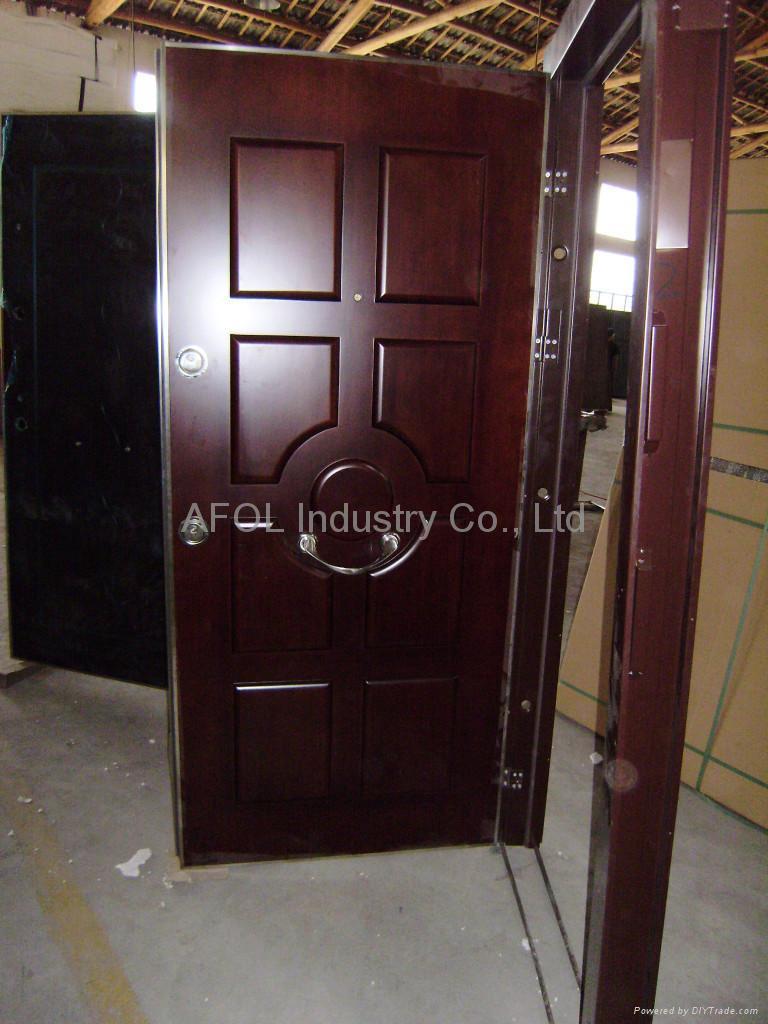 Merveilleux ... Steel Wooden Armoured Door ...