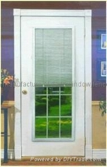 Blinds for fiberglass door