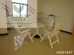戶外休閑塑料桌椅HXD1007