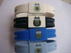 silicone bracelet custom design silicone  football sport bracelet