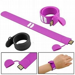 new arrival  silicone slap USB wristband