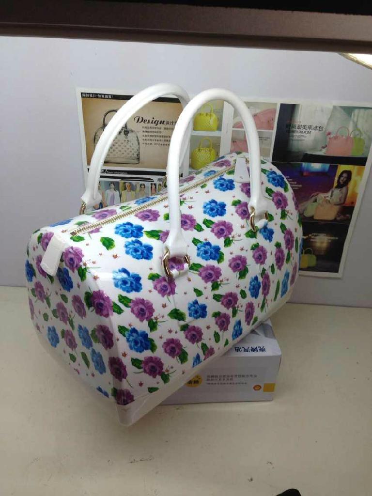 new arrival silicone beach jelly handbag