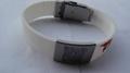 Unique QR Code silicone bracelet with metal plate