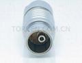 Straight plug 2B, fluidic + low power contact solder type