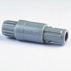 Straight plug solder contact Grey nut