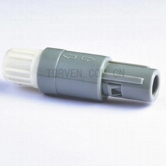 Straight plug solder contact White nut