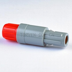 Straight plug solder contact Red nut