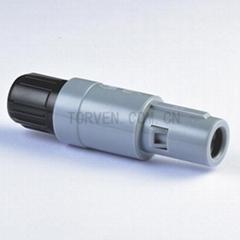 Straight plug solder contact Black nut