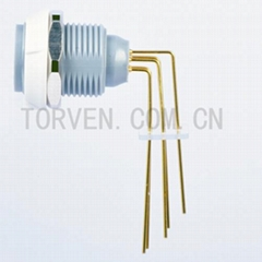 Fixed Receptacle with two nuts, PCB 90C white nut