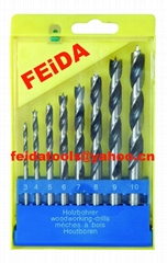 8pcs wood drill bits