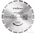 brazed saw blade for asphalt