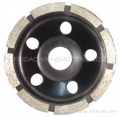 diamond cup wheel (single row)