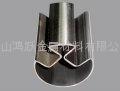 不鏽鋼90度圓雙槽管
