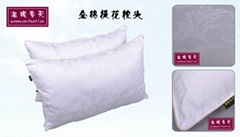 All cotton jacquard pillow