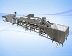 深圳振野小型7000枚/小时鸭蛋清洗裂纹检测电子分级生产线