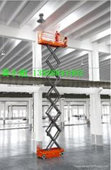 广州科学城出租自走剪叉式升降机,装修安装用升降平台
