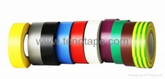 Low Voltage Cable PVC Electrical Insulation Tape with 1.6N/cm Peel Adhesion