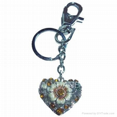 Sell heart shaped metal keychain