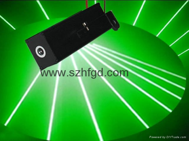 100mw green beam thick flare effect laser pointer head for sale 3