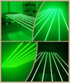 8 heads green laser curtain for pub