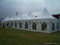 (厂家专业订做)4×4尖顶篷房、活动帐篷、欧式篷房、展览篷房