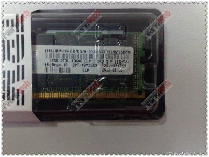 49Y1563 49Y1565 IBM 16GB(1X16GB) 1333MHZ PC3-10600 CL9 VLP ECC REG DDR3 SDRAM  6