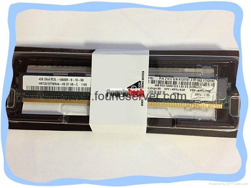49Y1436 49Y1446 46C0597 8GB (1x8GB, 2Rx4, 1.5V) PC3-10600 CL9 ECC DDR3 1333MHz  1