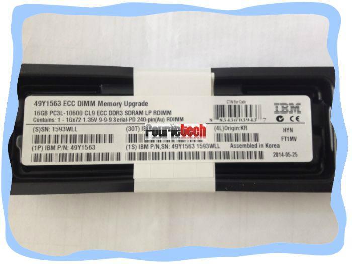49Y1563 49Y1565 IBM 16GB(1X16GB) 1333MHZ PC3-10600 CL9 VLP ECC REG DDR3 SDRAM  2