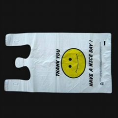 HDPE Plastic T-Shirt Retail Shopping bag